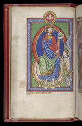 God Sending Forth the Angel Gabriel, in the 'Shaftesbury Psalter'